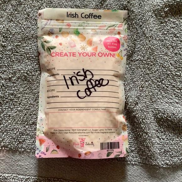 Irish coffee. Pink Zebra